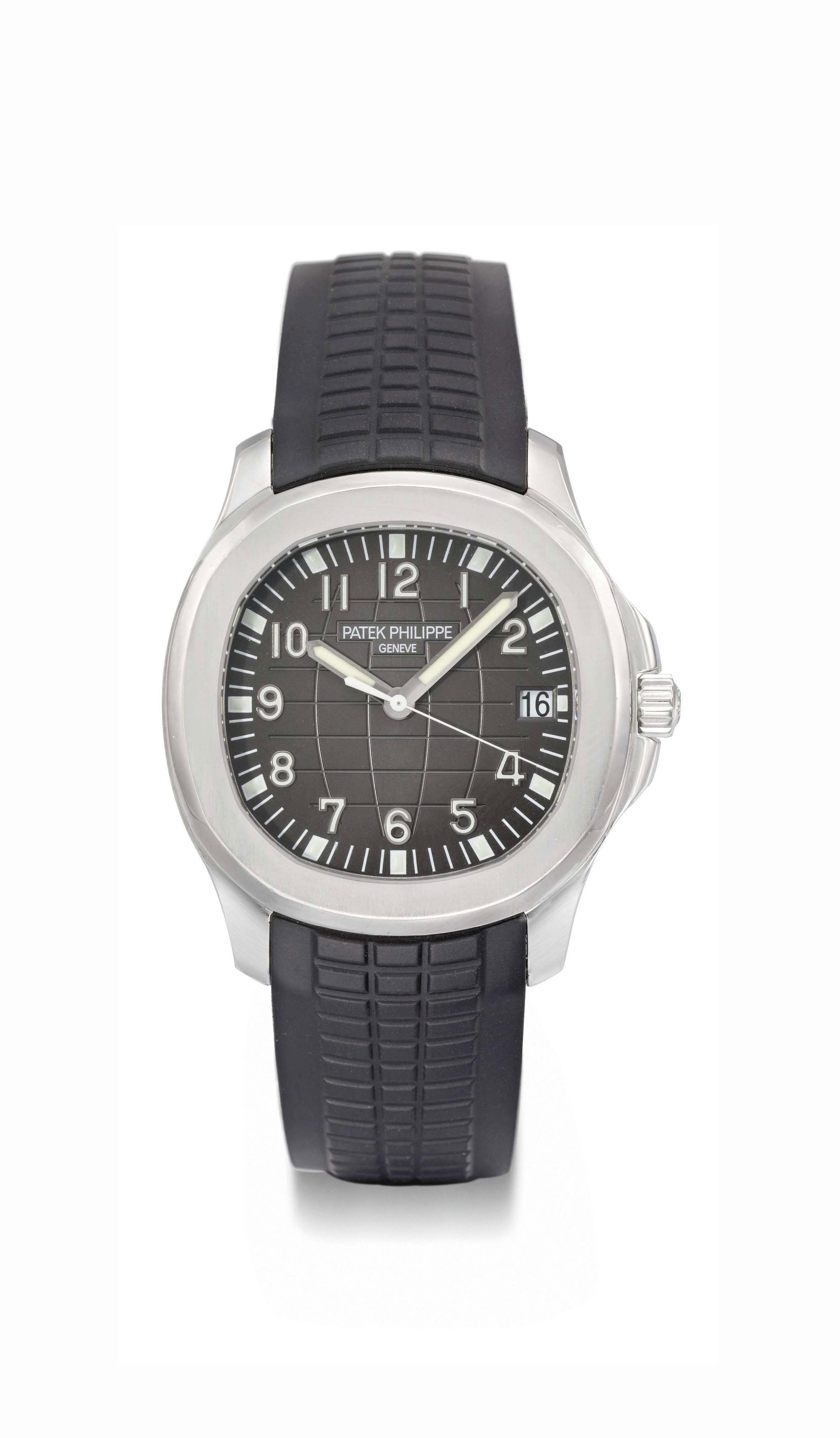 Patek philippe a large stainless steel automatic wristwatch with sweep centre seconds and date for Patek philippe geneve