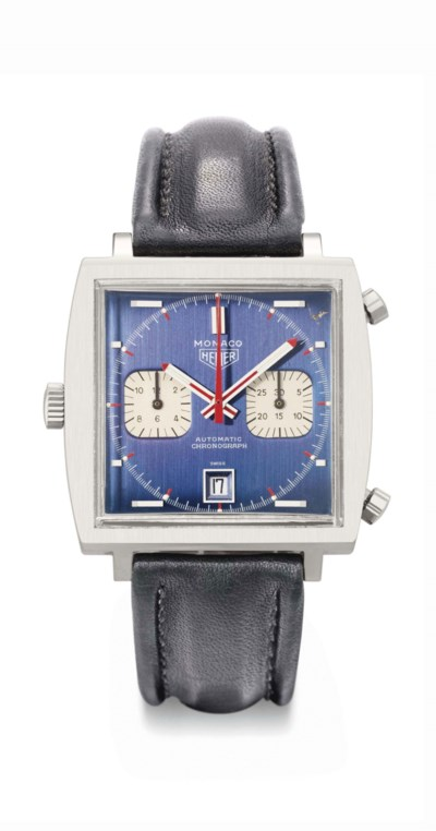 Heuer. An unusual and large st