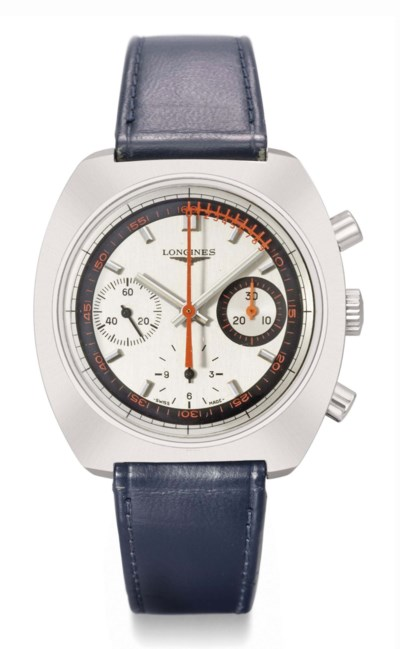 Longines. A stainless steel cu