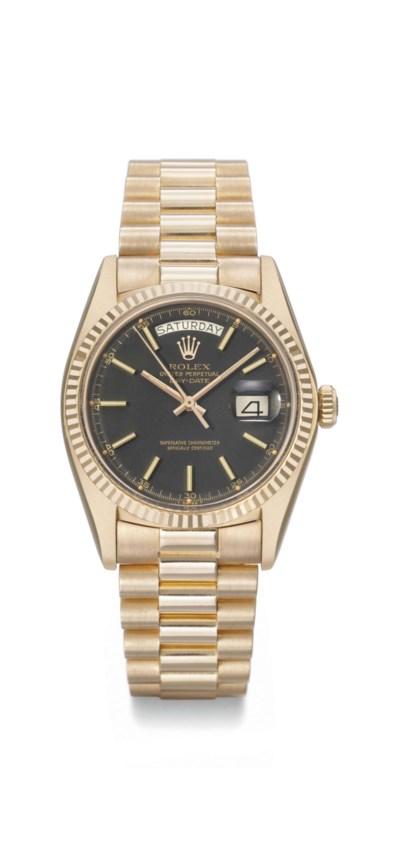 Rolex. An 18K pink gold automa