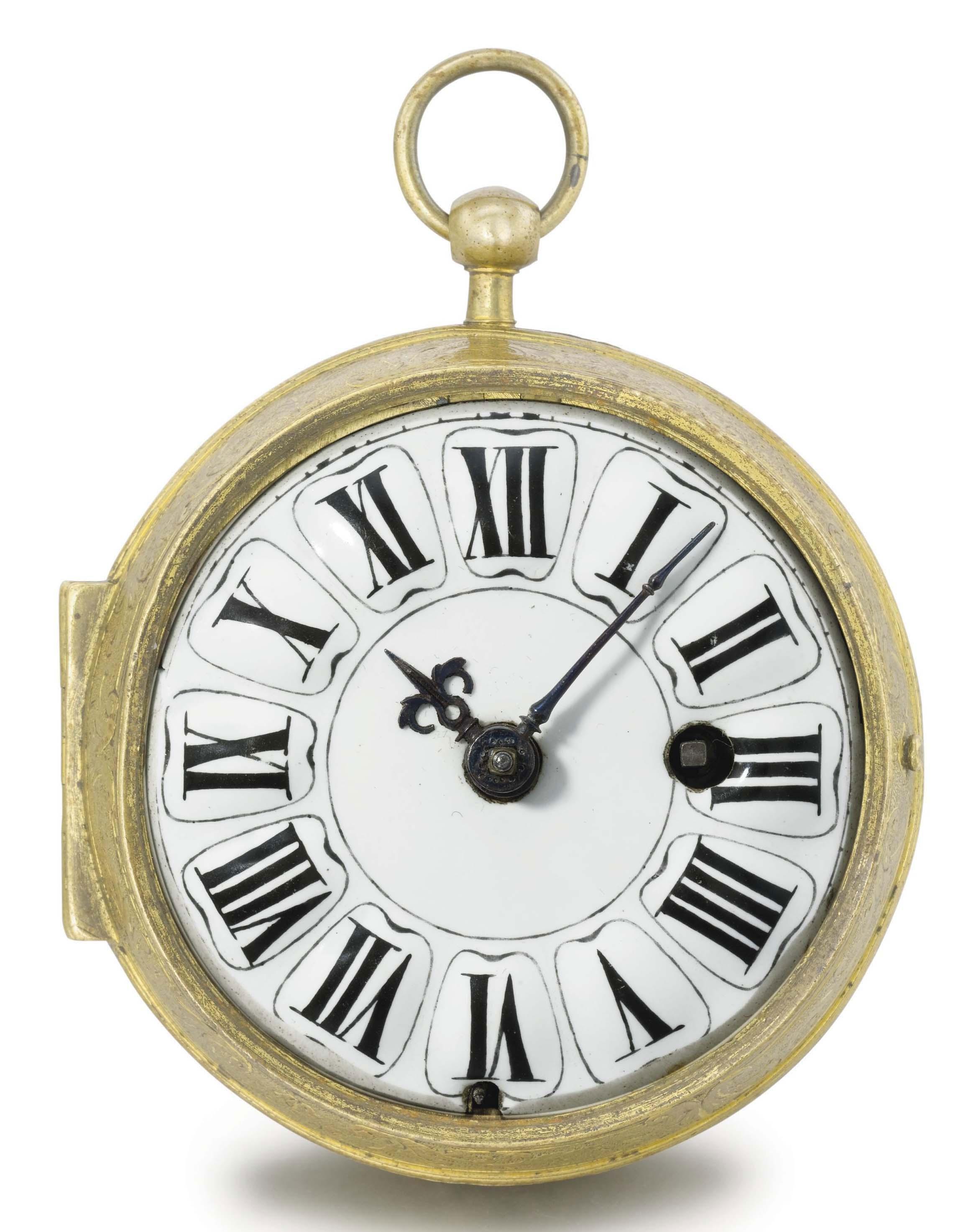 "Berner. An early gilt metal openface ""oignon"" verge watch"