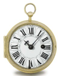 "Berner. An early gilt metal openface ""oignon"" verge watch"