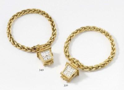Rolex. An unusual 18K gold lan