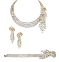 A SET OF DIAMOND JEWELLERY, BY TABBAH