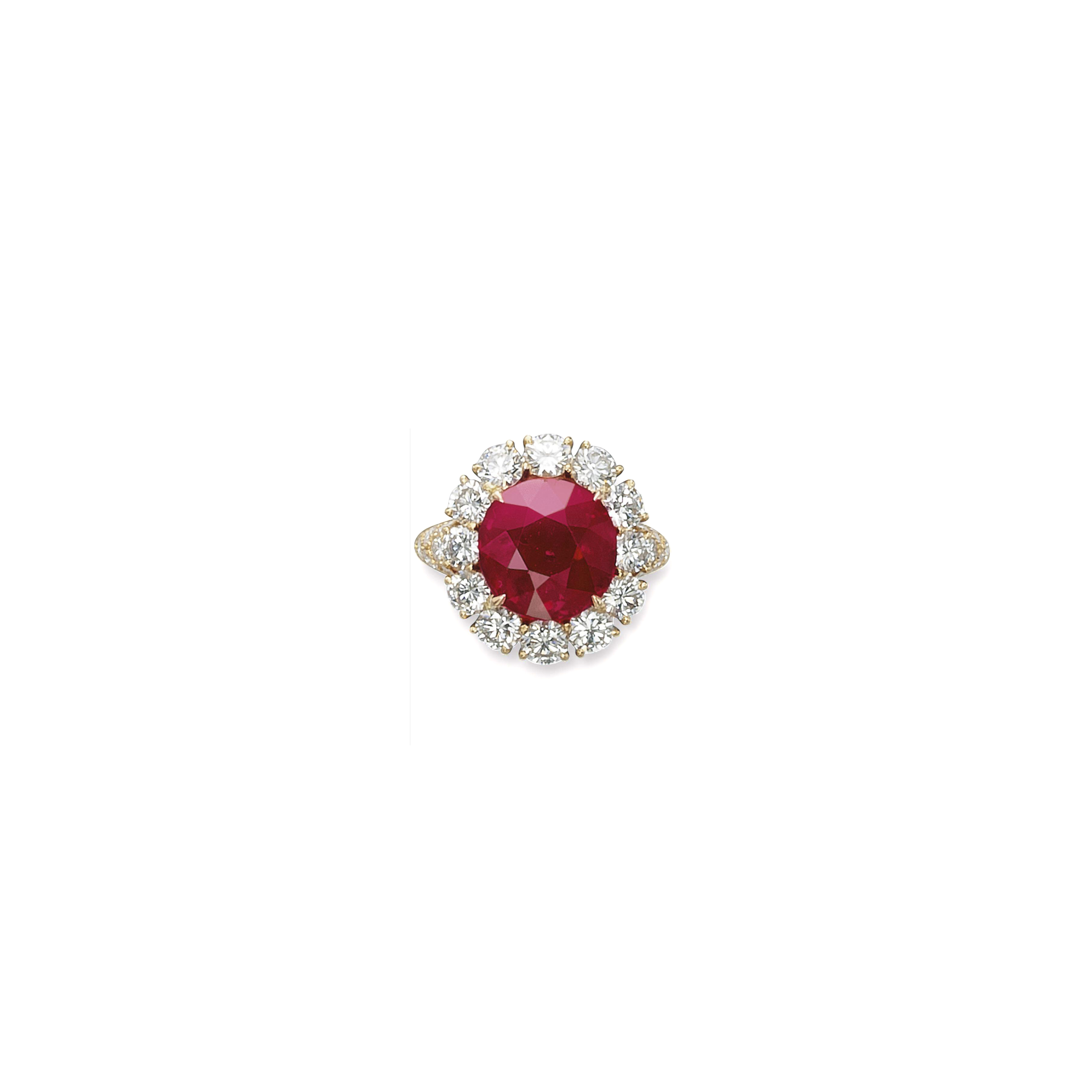 A SUPERB RUBY AND DIAMOND RING, BY VAN CLEEF & ARPELS