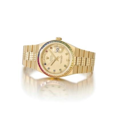 Rolex. An unusual 18K gold ton