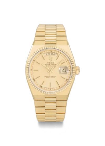 Rolex. An 18K gold calendar wr