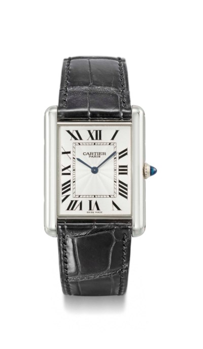 Cartier. A fine platinum recta