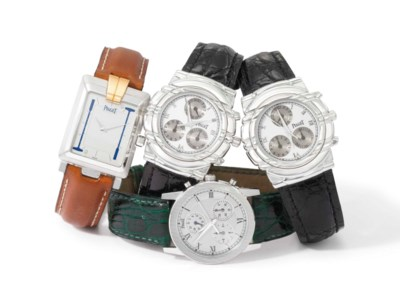 Piaget. A lot of three 18K whi