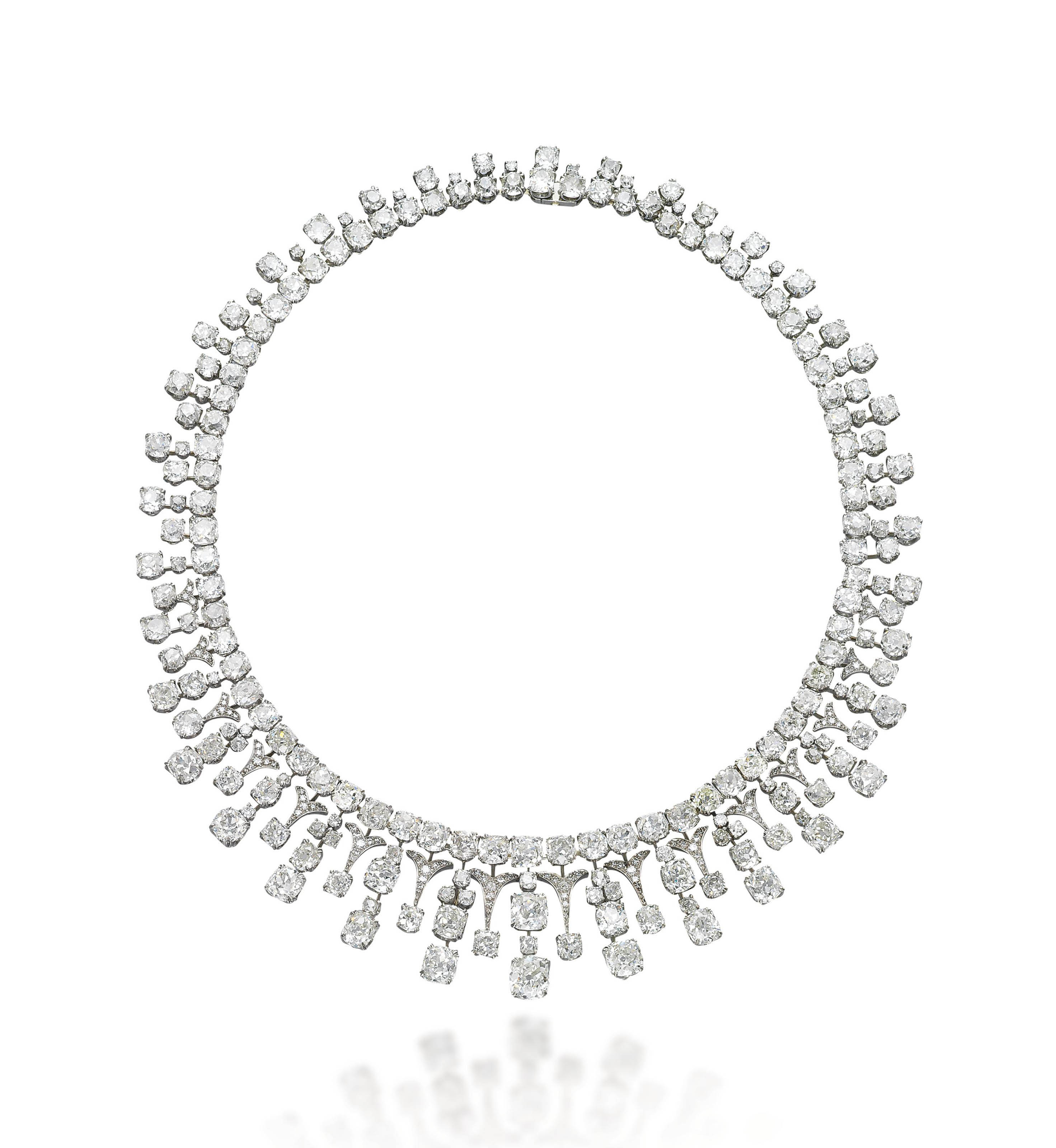 AN ANTIQUE DIAMOND NECKLACE, BY MEISTER