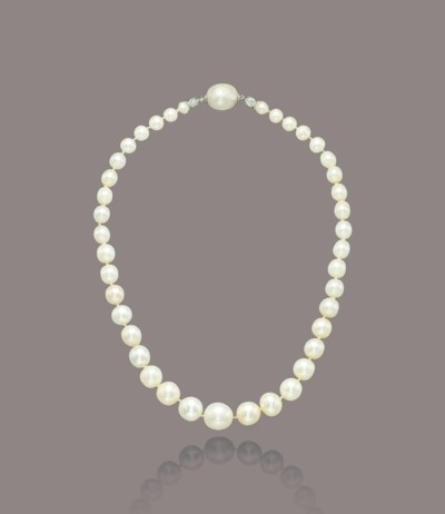 A NATURAL AND CULTURED PEARL N