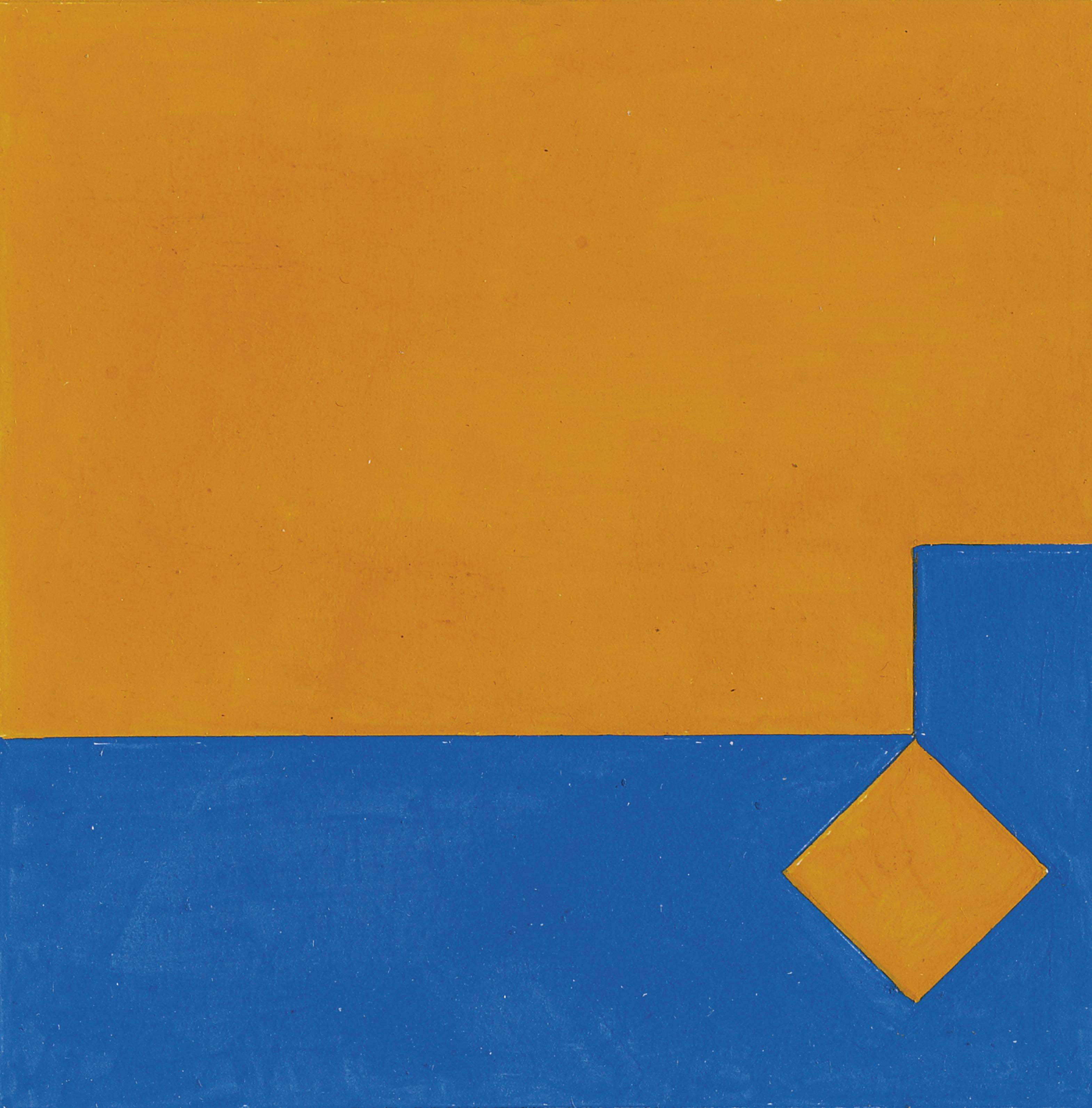 Farbstudie zu Seriegraphie Orange/Blau 2:1, 1979