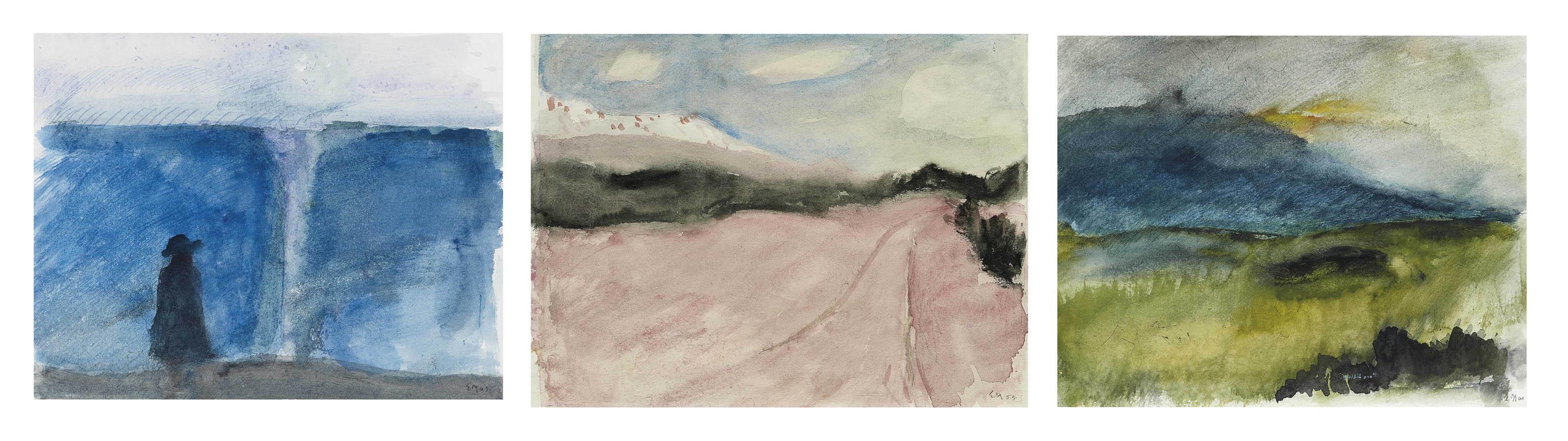 Sammelnummer von drei Werken: Am Meer, 1961  Fuorn, 1955  Sardinien, 1961