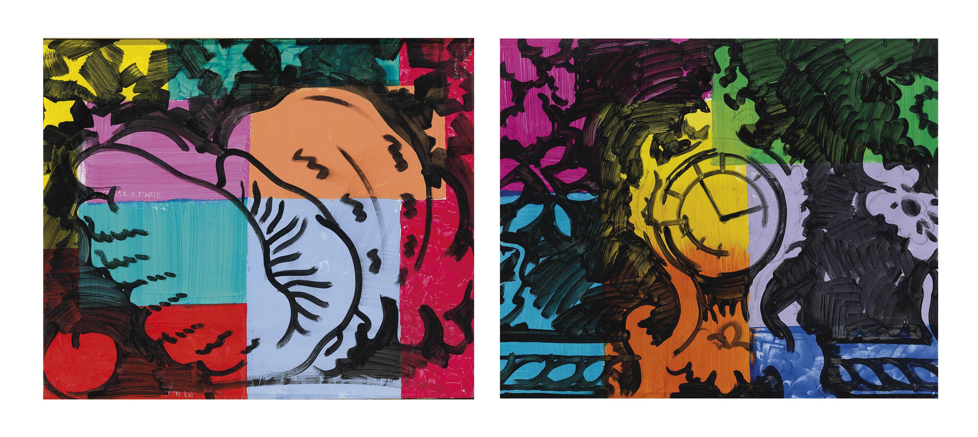Sammelnummer von zwei Werken: Muschel, 1996  Pendule, 1996