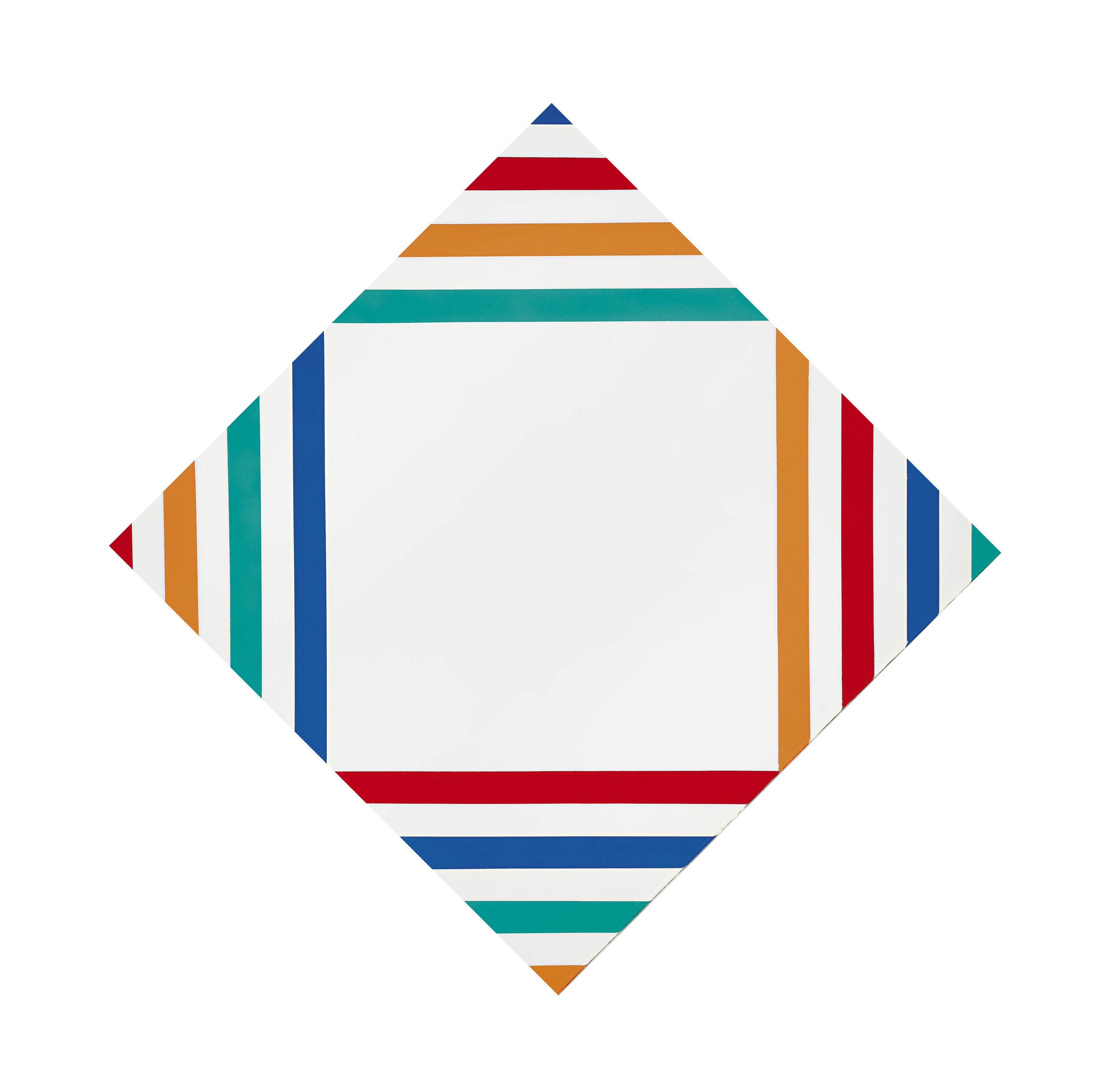 vier gleiche farbgruppen im weissen feld, 1969