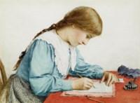 Brief schreibendes Mädchen, 1906