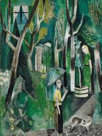 Mädchen im Wald, um 1924