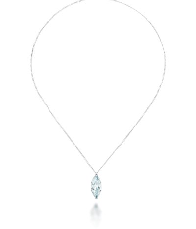 A COLOURED DIAMOND NECKLACE