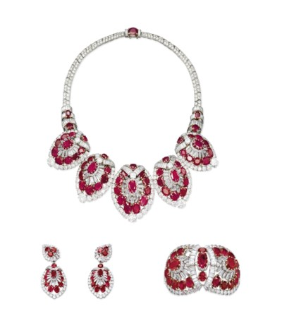 A SET OF EXCEPTIONAL RUBY AND