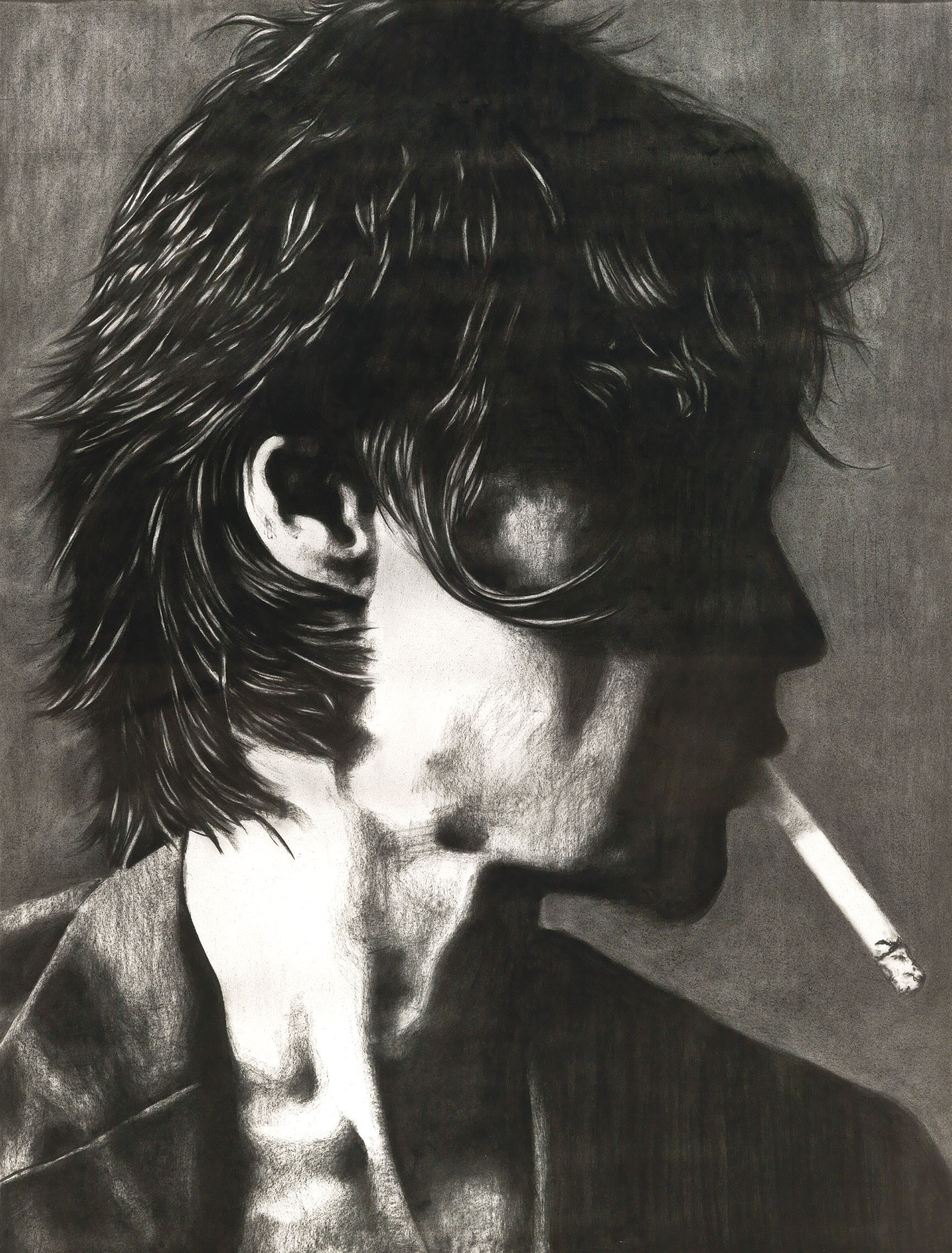 Untitled (Side View with Cigarette)