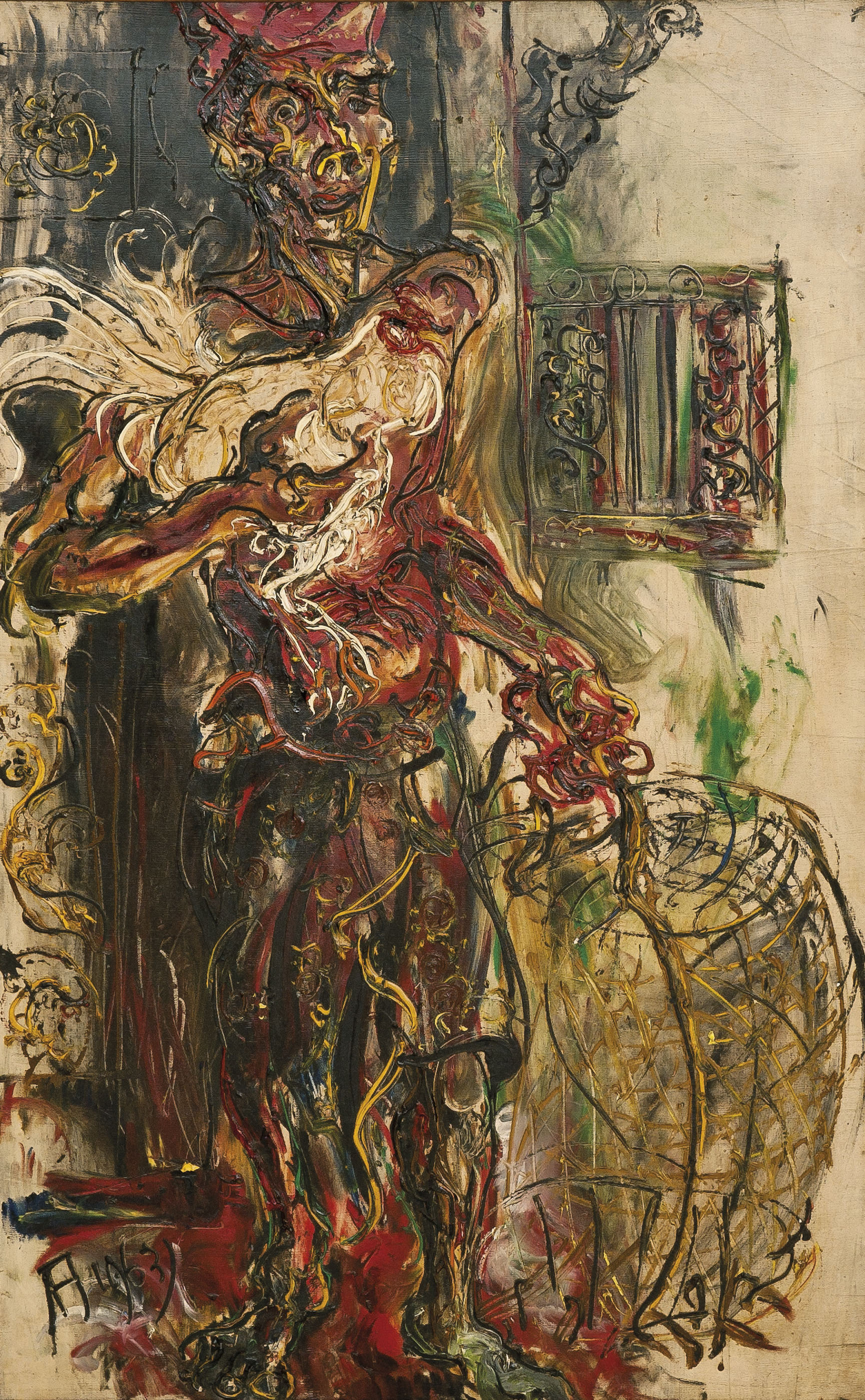 Ayam Jago (Man with a Fighting Rooster)