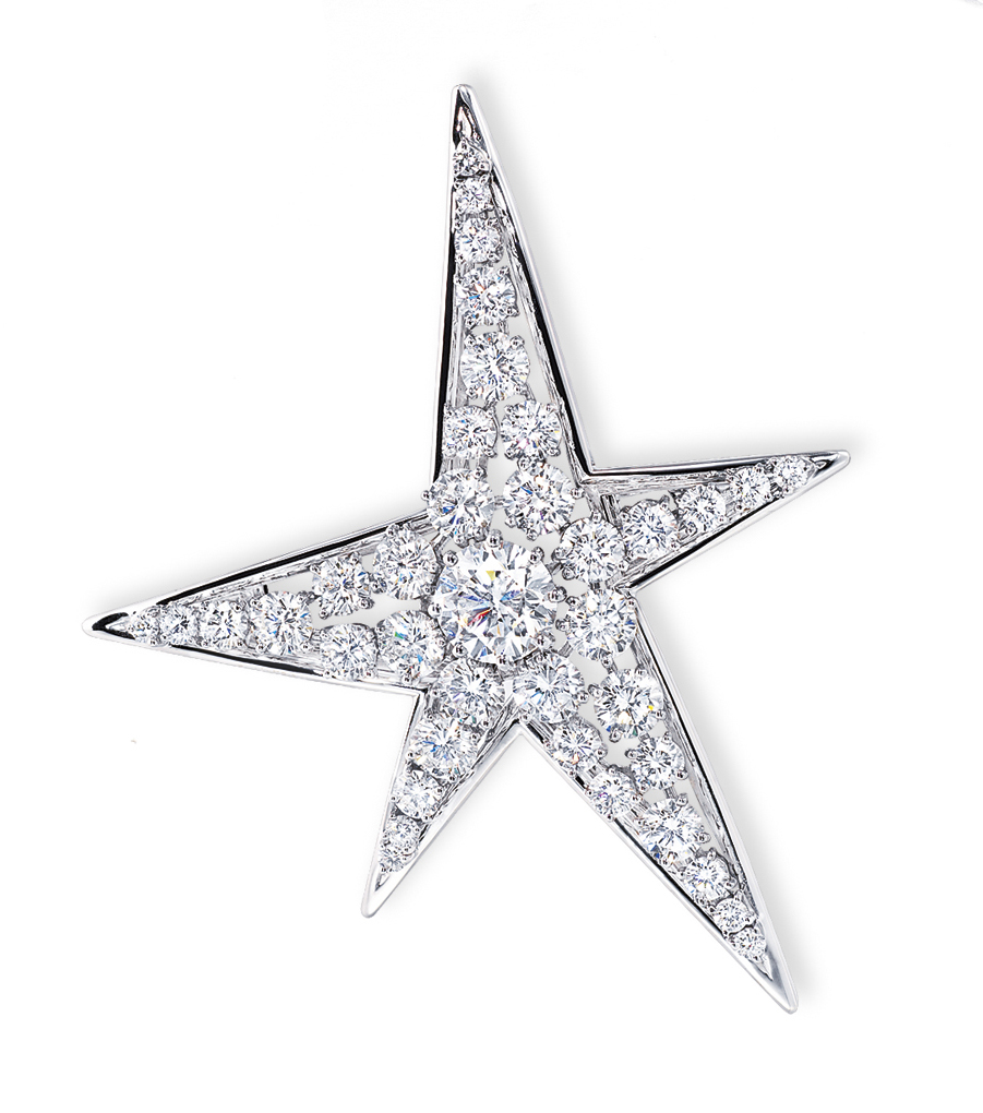 A DIAMOND 'COMÈTE' BROOCH, BY CHANEL