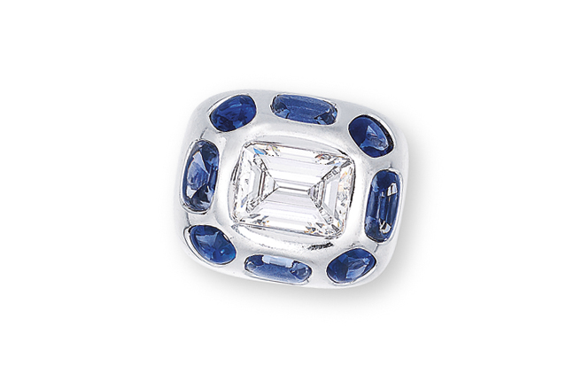 A DIAMOND AND SAPPHIRE 'COCO' RING, BY CHANEL