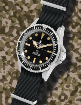 ROLEX, REF 5513, MILITARY SUBMARINER, MADE FOR THE BRITISH R