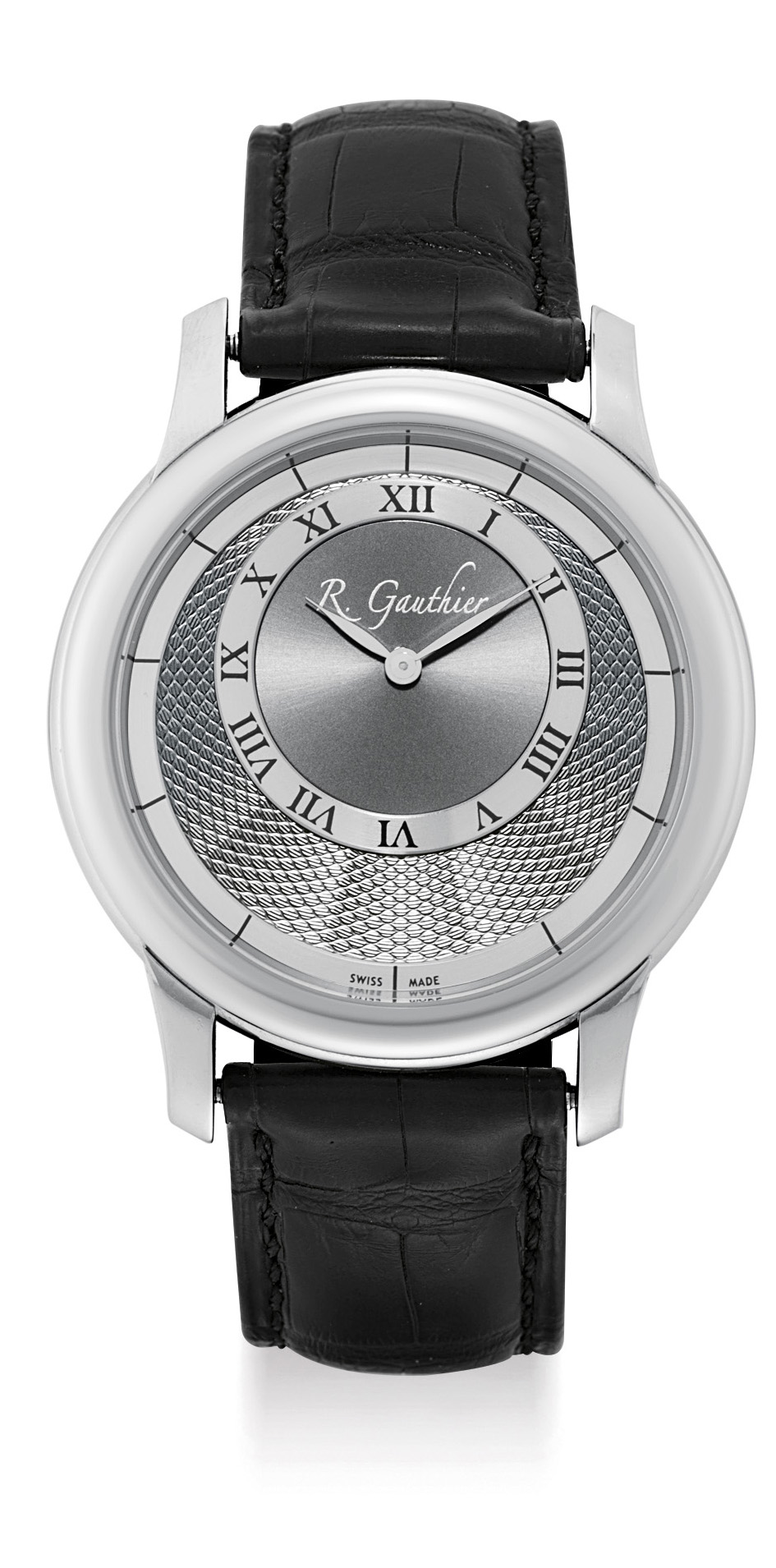 ROMAIN GAUTHIER, A FINE PLATINUM LIMITED EDITION WRISTWATCH WITH ECCENTRIC DIAL