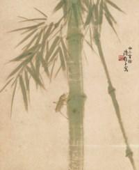 Grasshopper on Bamboo