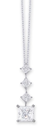 A DIAMOND PENDENT NECKLACE, BY MIKIMOTO