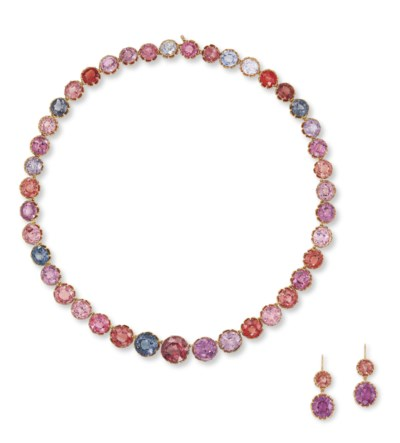 A SUITE OF SPINEL JEWELLERY