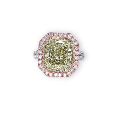 A 'CHAMELEON' DIAMOND, COLOURE