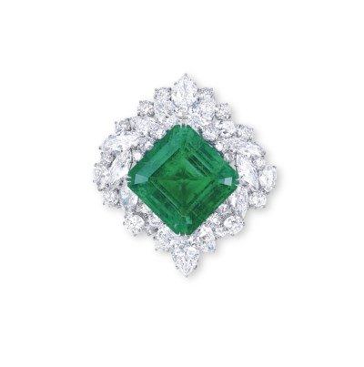 A MAGNIFICENT EMERALD AND DIAM