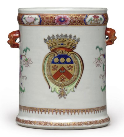 A FRENCH MARKET ARMORIAL BOTTL