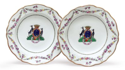 A PAIR OF CONTINENTAL ARMORIAL