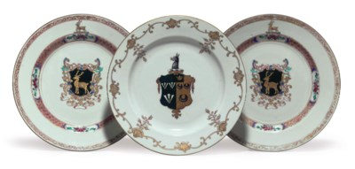 THREE CHINESE EXPORT ARMORIAL