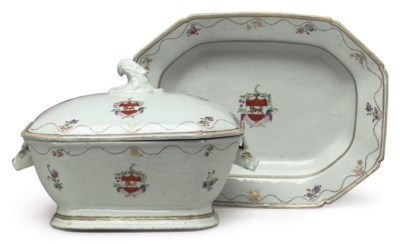 AN ARMORIAL TUREEN, COVER AND