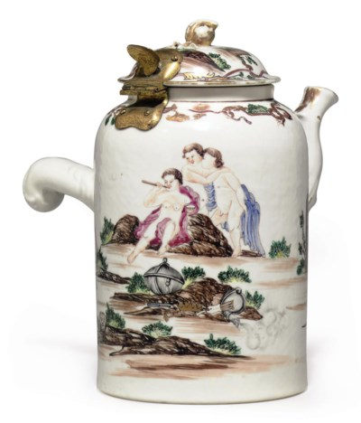 A MYTHOLOGICAL CHOCOLATE-POT A