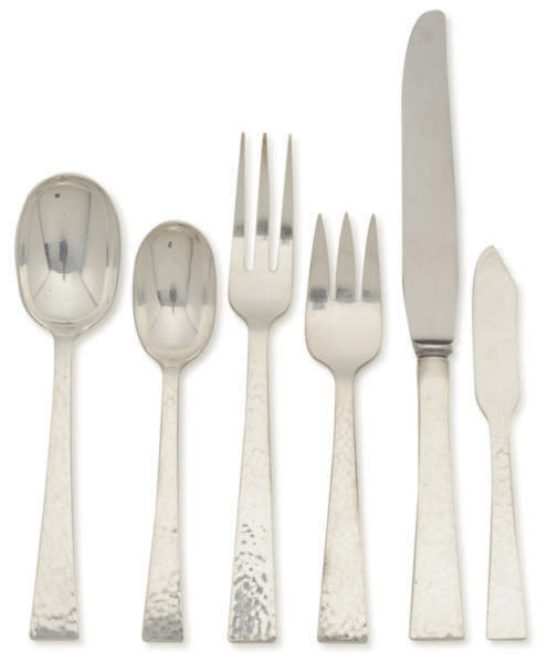 AN AMERICAN SILVER FLATWARE PART SERVICE,