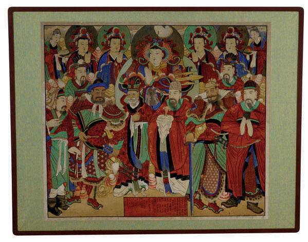 A KOREAN PAINTING OF ASSEMBLED DIETIES,