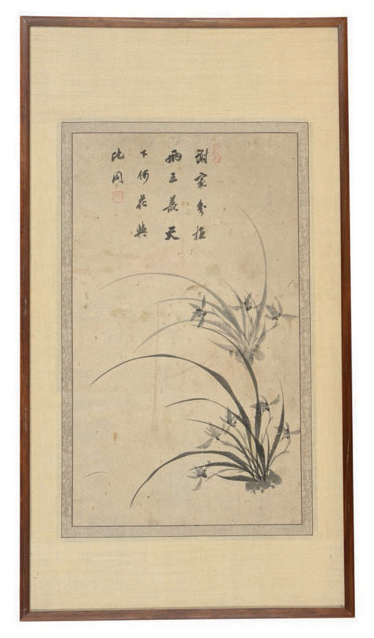 THREE KOREAN PAINTINGS OF PLUM, ORCHID, AND BAMBOO,