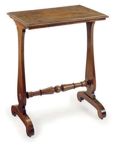 AN ENGLISH MAHOGANY SIDE TABLE,