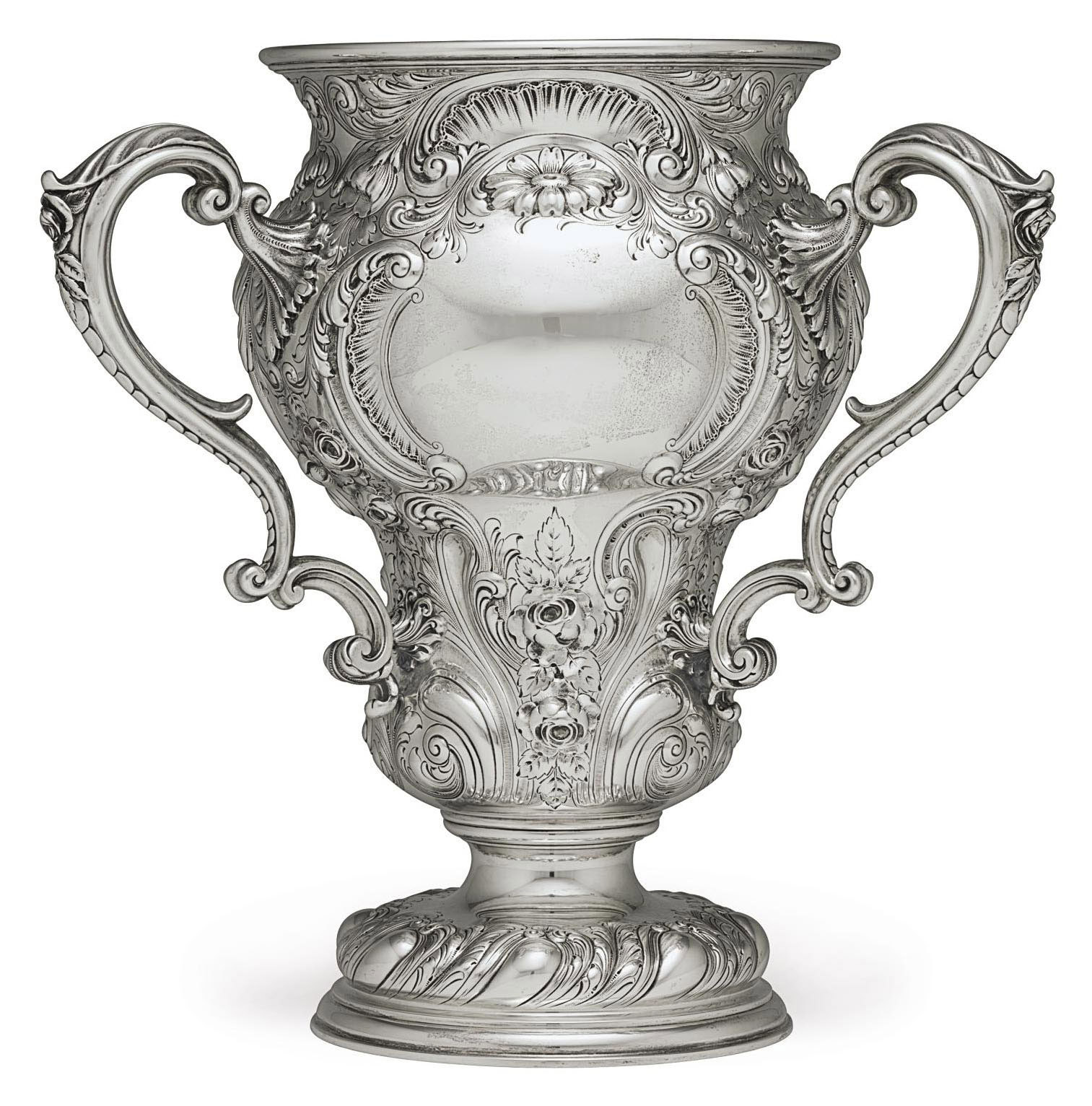 A SILVER LOVING CUP
