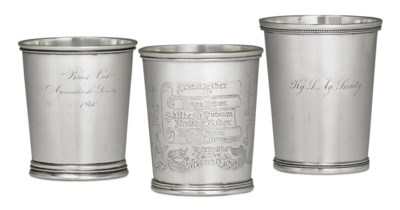A GROUP OF SILVER JULEP CUPS O