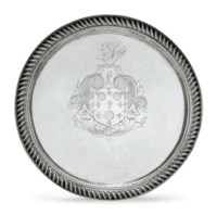 AN IMPORTANT SILVER TAZZA