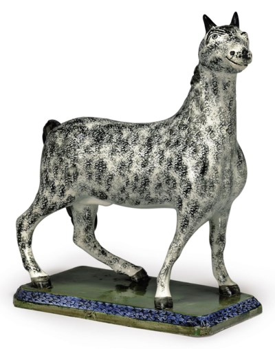 A LEEDS PEARLWARE MODEL OF A S