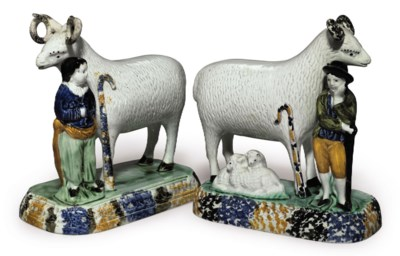TWO YORKSHIRE PEARLWARE MODELS