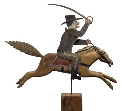 A PINE AND SHEET-METAL SOLDIER
