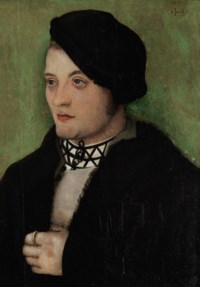 Portrait of a young man, bust-length, with his head turned to the left